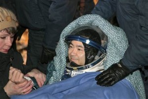 Astronauts touch down in Kazakhstan