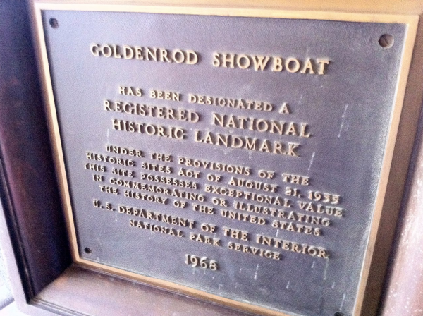 Goldenrod Showboat Historic Marker