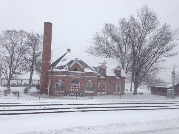 Snow Covered Waterworks Building