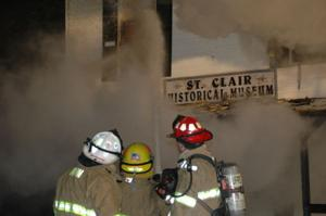 St. Clair Museum Fire