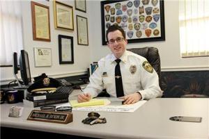 Michael Dixon at his desk.