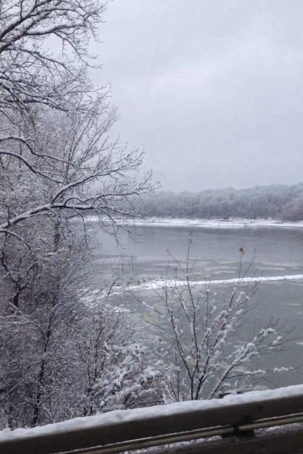 Icy Missouri River