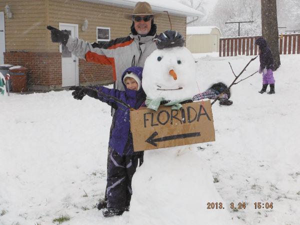 Southbound Snowman