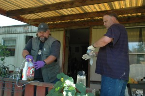 Meth Lab Components Seized