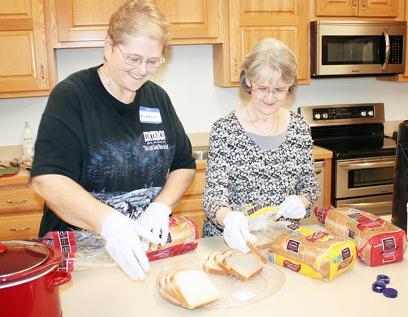 Preparing Community Dinner