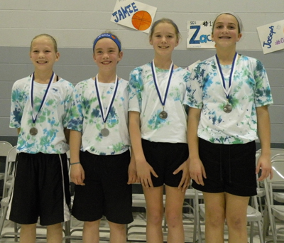 Second-Place Team for Fifth- and Sixth-Grade Girls