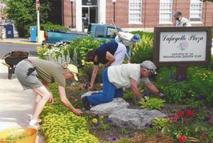 Members at Work in Lafayette Plaza