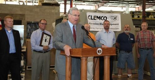 Gov. Nixon at CLEMCO
