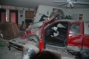 Pickup Ends Up in Living Room