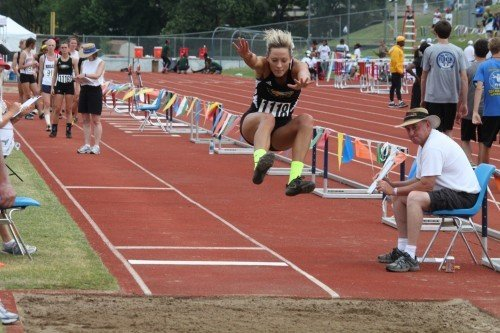 Ritter Wins Long Jump Title