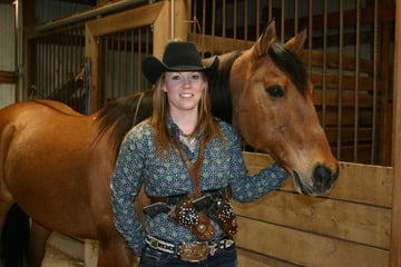 Union Woman Is a Mounted Shooting Champion Cowgirl 