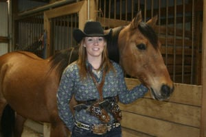 Union Woman Is a Mounted Shooting 'Champion Cowgirl'