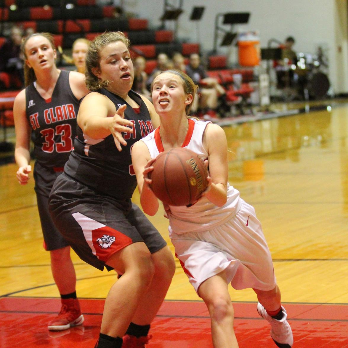 Girls Basketball — St. Clair at Union
