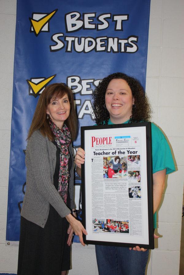Karen Brinkmann Missourian In Education 2013 Teacher of Year