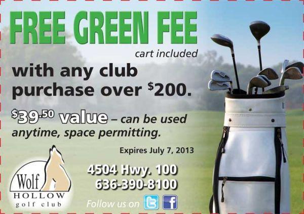 FREE GREEN FEE!
