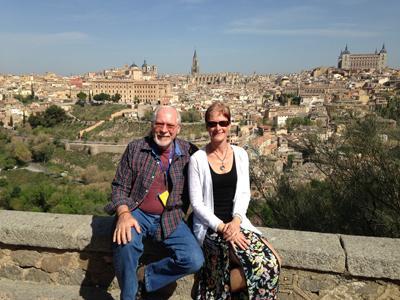 Overlooking the City of Toledo, Spain