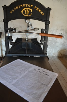 German Newspaper Was Printed in Strehly House