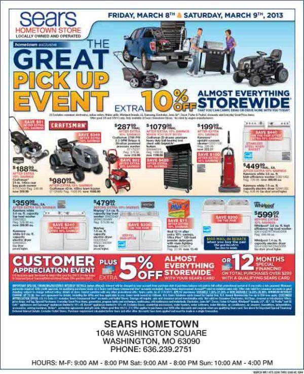 Sears Circular March 8th-9th