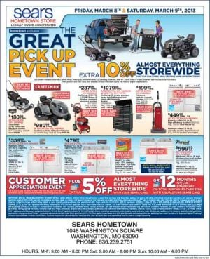 Sears Circular March 8th-9th