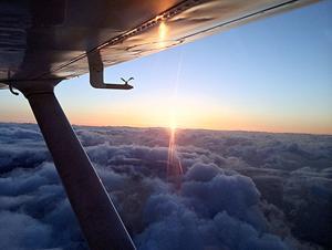 Sunrise Over the Mid-North Atlantic Ocean