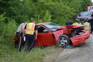 Car Strikes Utility Pole
