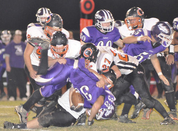 Pacific Cruises Past Owensville for First Football Win, 49-14