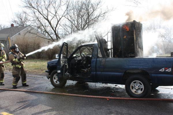 Pickup Fire in Union