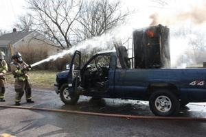 Pickup Fire in Union