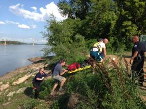 Rescue from Mo River Bank 071613_1