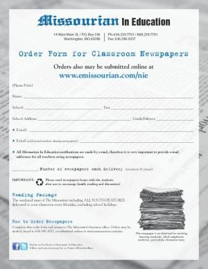 Missourian In Education Order Form