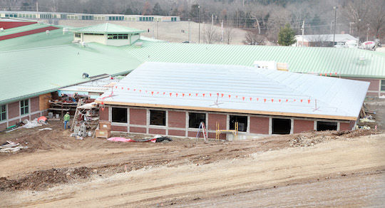 New Classroom Addition Takes Shape at West