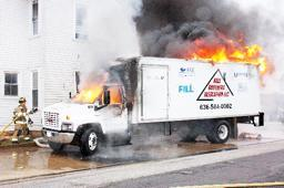 Firefighters Put Out Truck Fire