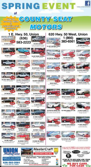 County Seat Motor Spring Sales Event Inventory