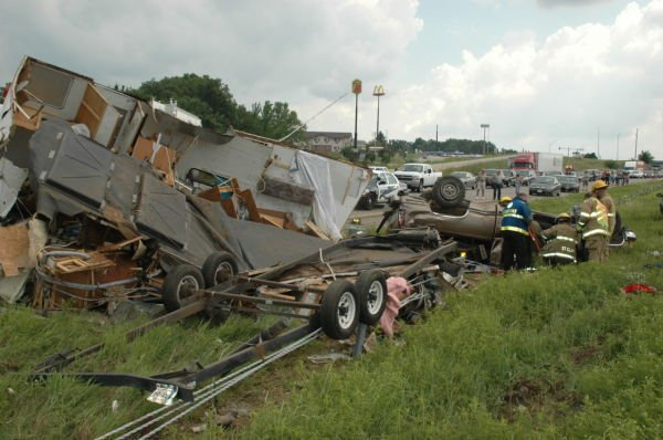I-44 Accident Scene in St. Clair