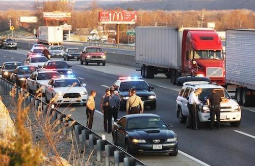 Arrest on Interstate