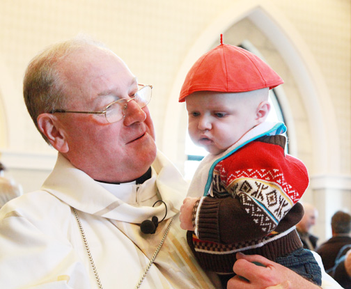 Cardinal Dolan at Our Lady of Lourdes