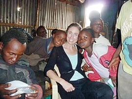 Tammy Donahue, UHS Class of 1986, in Nairobi, Kenya