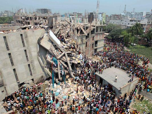 Garment Factory in Bangladesh Collapses