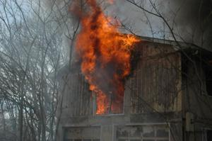 Fire Burns Inside Home