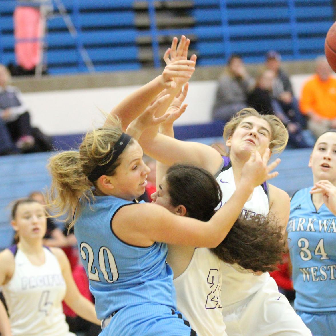 Girls Basketball — Pacific vs. Parkway West, Washington Tournament
