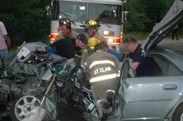 Emergency Responders Work Accident Scene