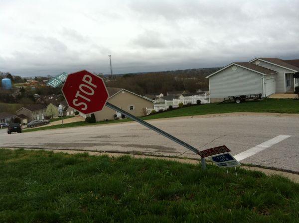 Stop Sign at Eagle Ridge Dr.