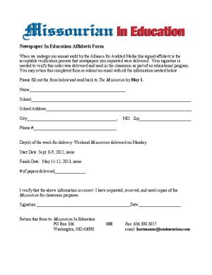 Missourian In Education Teacher Affidavits