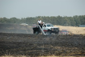 Brush Fire at Sullivan Airport