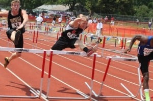 King Hurdles to State Medal