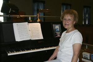 <p>Barb Baser, Villa Ridge, has been playing piano for weekly church services, weddings, funerals and more at First Baptist Church in Gray Summit since 1964. A celebration to honor her dedication to the church will be held Saturday, Oct. 25, at 2 p.m. at the church.  Missourian Photo.</p>