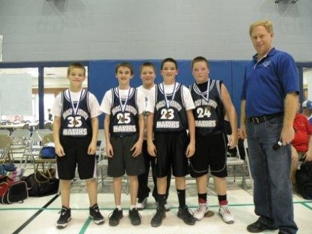 Third-Place Team for Sixth-Grade Boys