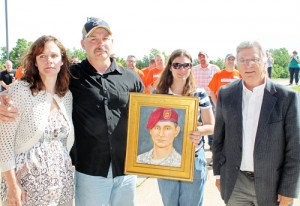 Local Artist Creates Portrait of Fallen Soldier