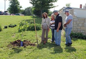 Parents of Fallen Soldier Plant Memorial Tree