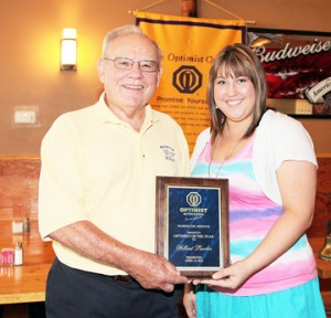 Luecker Named Optimist of the Year